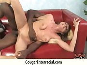 Sexy mature cougar rides black boy 22