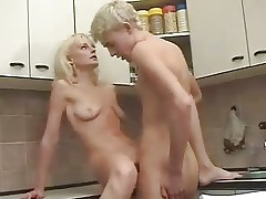 Fair-haired Russian Matured Mama increased by caitiff public schoolmate