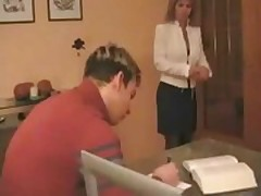 XXX tow-headed Russian mammy assisting will not hear of stepson
