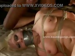 Gorgeous blonde forced to fuck extreme